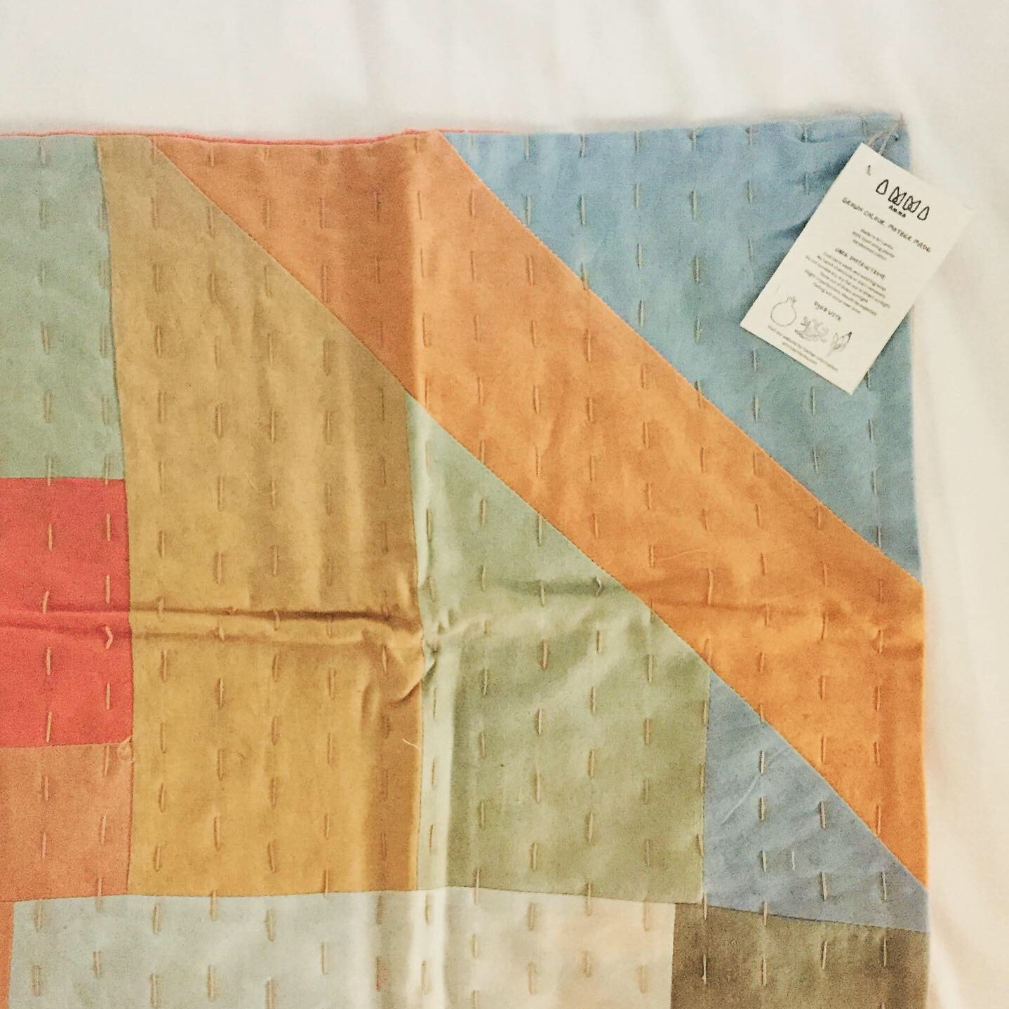 Pillow cover from AMMA, a women's collective in Sri Lanka