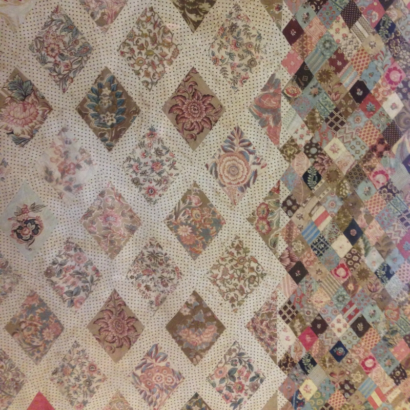 Detail from quilt at Jane Austen's house in Chawton